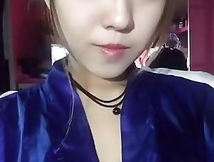 Asian;Blue Girl;Satin;Blue Blue satin girl