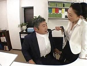 BDSM;Femdom;Japanese;Sex Toys;Strapon;Boss;Employee;Office;Japanese Office;Hard Japanese Boss...