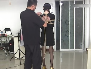 bdsm;hogtied;bondage;chinese;asian;panthose;nylon,Bondage chinese hogtied