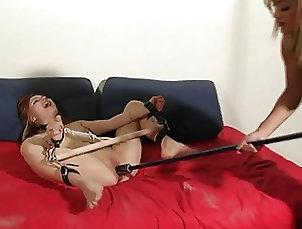 Asian;Sex Toys;Lesbians;Tits;BDSM;Femdom;Interracial;Foot Fetish;Latex BD gimp takes her...