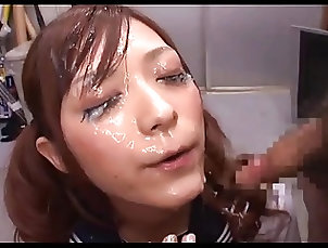 Bukkake;Cumshots;Facials;Japanese;School Uniform;School Sato - School...