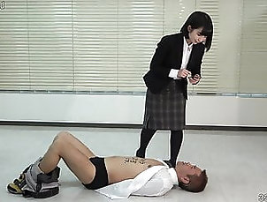 Asian;Japanese;Femdom;Foot Fetish;HD Videos;Mistress;Office;Slave;Revenge;Young;Pantyhose;Petite;Female Domination;Humiliation;Office Lady;Foot Trample;337799;Rookie;Japanese Dominatrix;Japanese with English Subtitles;60 FPS A rookie office...
