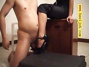 BDSM;Femdom;Footjob;Female Domination;Asian Femdom;Asian Heels;Heels;Shoejob Shoejob in Black...